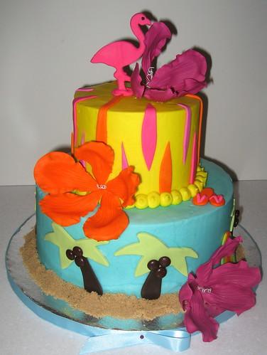Decoration For Tropical Theme Wedding Cake