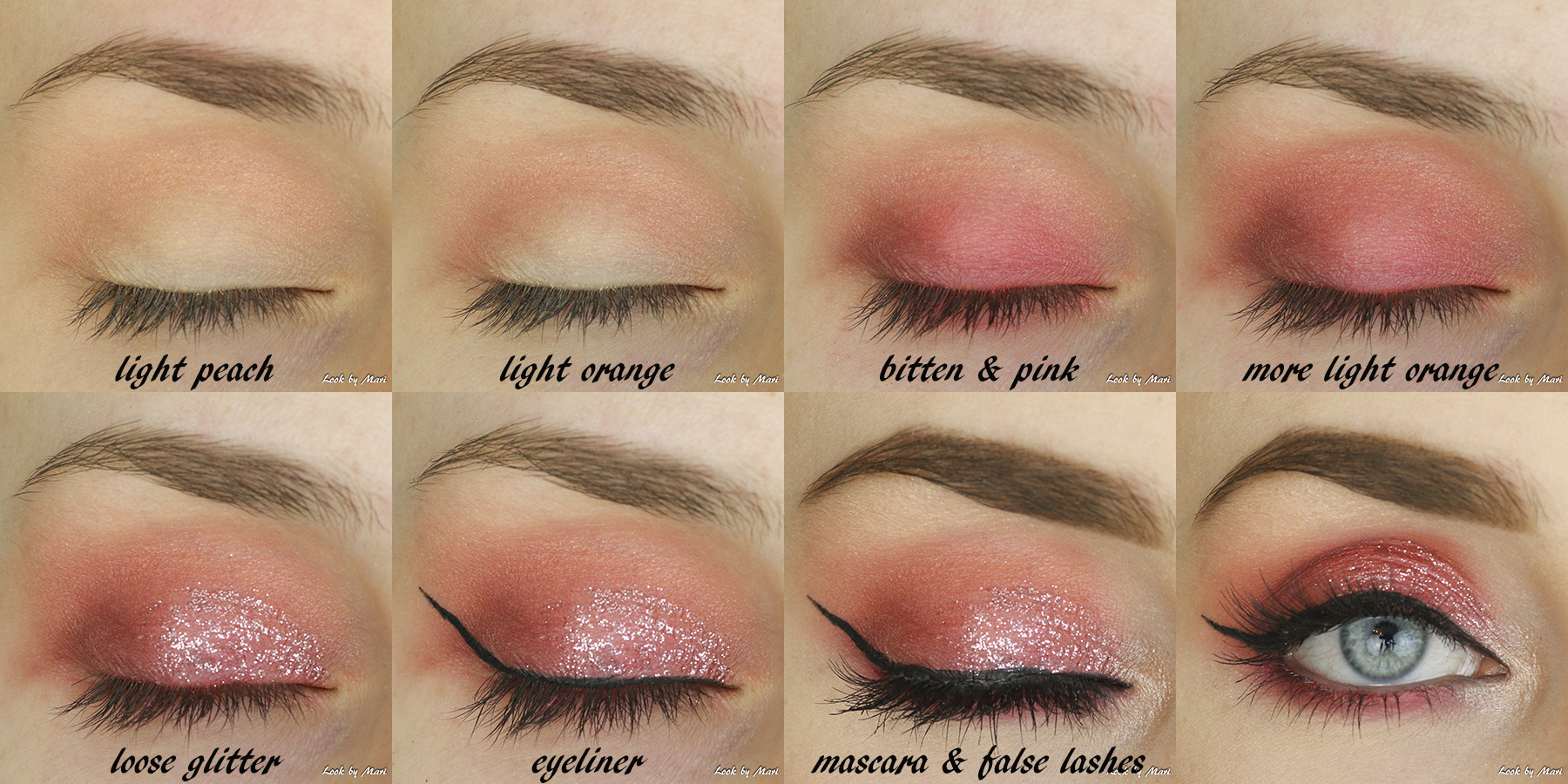 5 pink glitter eye makeup party glitter makeup