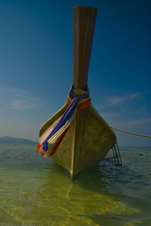 A longtail boat on Bamboo Island (Koh Phai), Thailand | by Adam Cathro
