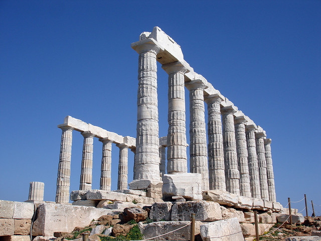 Sounion, Temple of Poseidon  The temple of Poseidon was ...