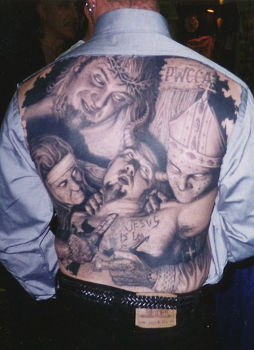 Back tattoo by paul booth jesus is headovmetal for Jesus back tattoos