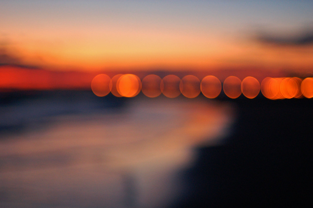 seaside sunset bokeh | Explored! | bryan | Flickr