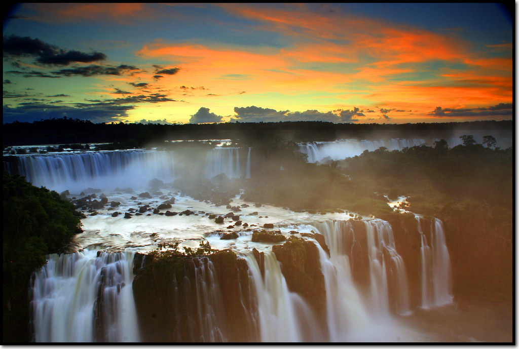 iguazu falls sunset - photo #40