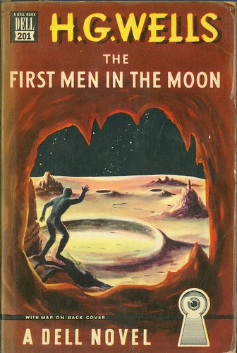 HG Wells - The First Men In The Moon (Dell 201) | by vintagepaperbacks