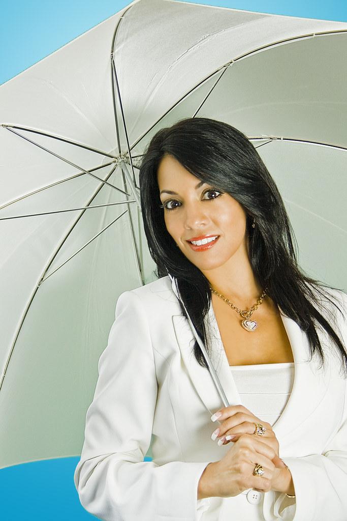 Olga Aymat with Umbrella