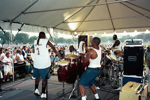 a go go band named xodus freedomfestdc every july 4th
