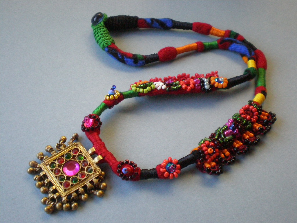 textile necklace my necklaces pin pinterest kozelj first marinela