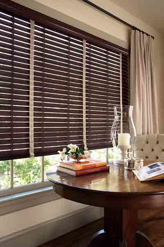 home decorators blinds.  Premium Espresso Wood Blinds by Next Day w Branch Flax Cloth Tapes Flickr
