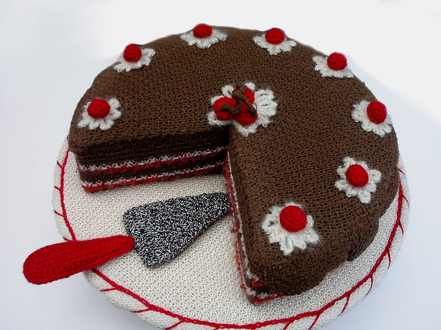 Knitted Cake Knitted Black Forest Cake Www