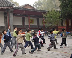 china tour tai chi school kids stretching | by Ben Burkland/Carolyn Cook