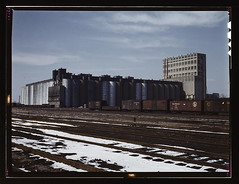 The giant 10 million bushel grain elevator of the Santa Fe R.R., Kansas  (LOC) | by The Library of Congress