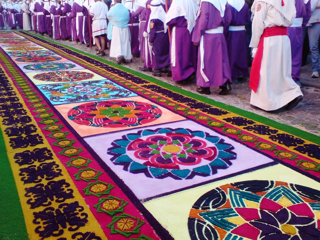 Alfombra para la procesi n de jes s de la merced del viern - Las mejores alfombras ...