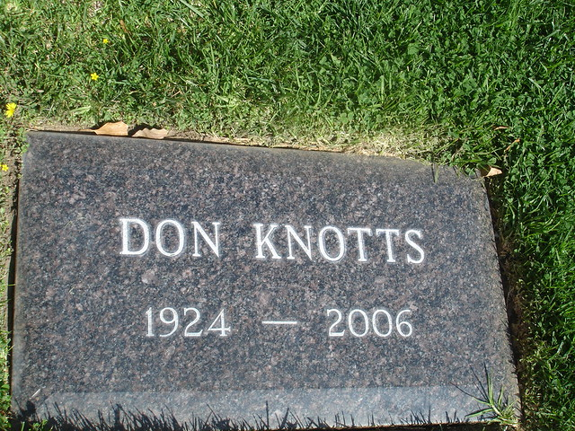 Don Knotts Epitaph Westwood Cemetery Hollywood Enwikiped Flickr