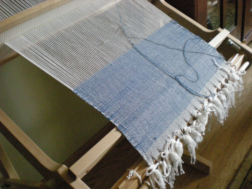 My first weaving | Schacht Flip rigid heddle loom  This is m