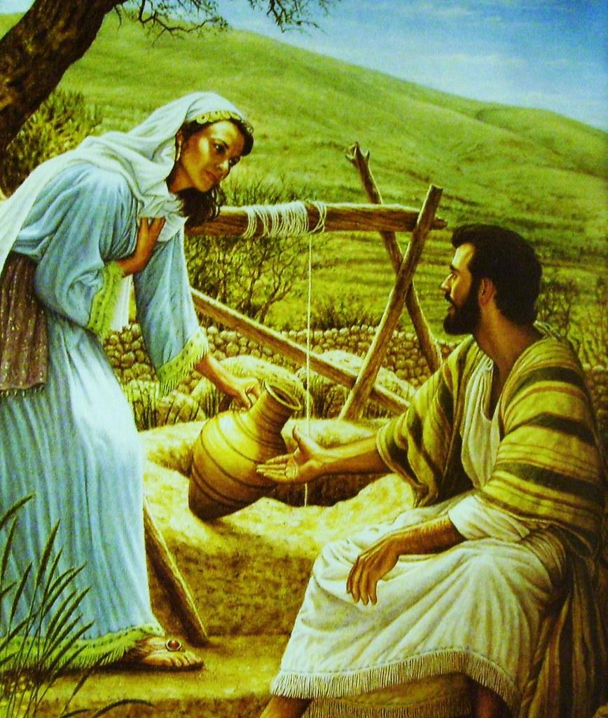 Samaritan Woman At The Well Coloring Page