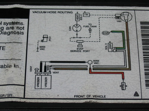 97 Ford Expedition Vacuum Hose Routing Diagram