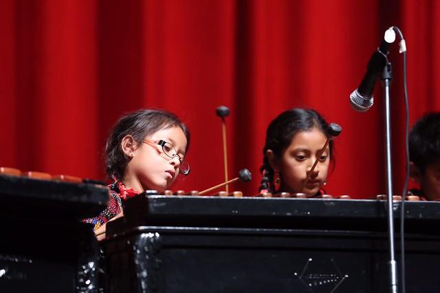 """El talento de niños y jóvenes marimbistas se lució en la Gran Sala """"Efraín Recinos"""""""