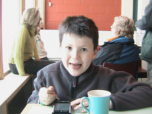 Ben in Cairngorm Mountain restaurant - Aviemore - Jan 2006 | by Click And Pray