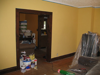 Living Room: Day 5 - 2nd coat and fake line at the top. | by naladahc