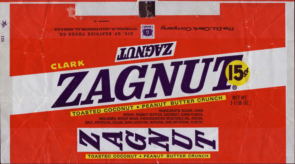 Zagnut Candy Bar Wrapper 15 Cents Late 60 S Early 70 S