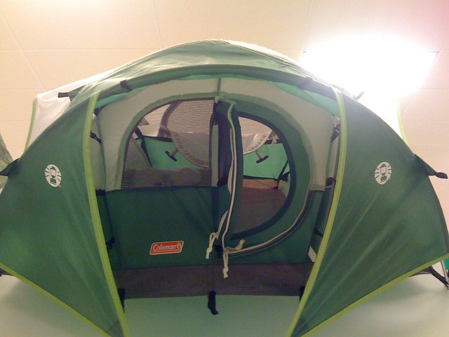 Tent With Hinged Door : Green tent w hinged door flickr photo sharing