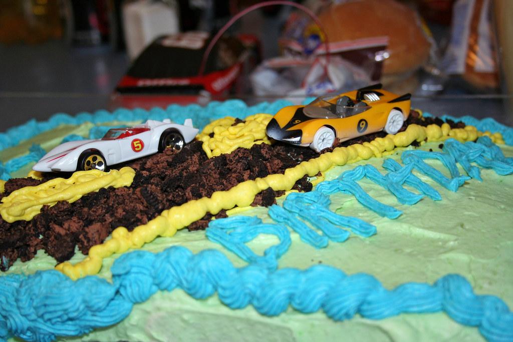 Speed Racer Birthday Cake