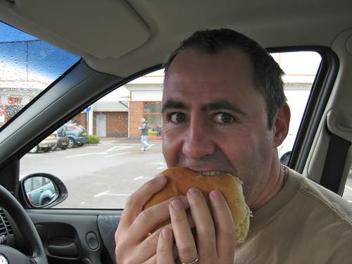 Man Eats Burger In A Car You Cant Beat A Burger You Buy