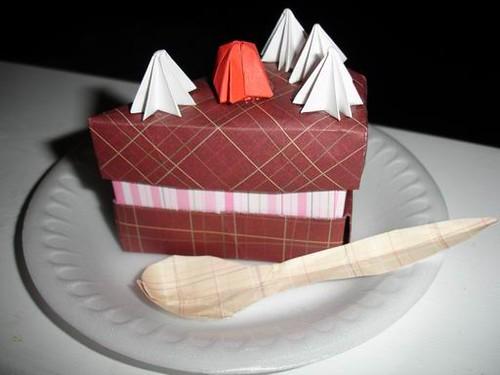 Origami Cake Box Designed By Makoto Yamaguchi Chocolate C Flickr