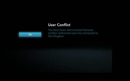 "Sling Box + Google TV ""User conflict"" 