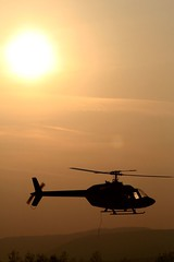 Helicopter & Sunset | by PsychoScheiko