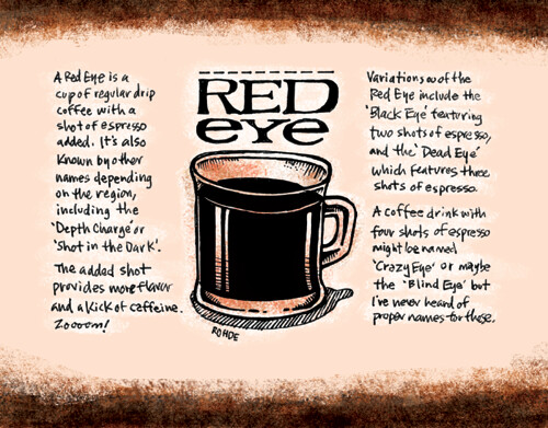Calendar November : Coffee calendar red eye sketchtoon a