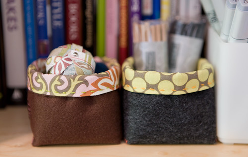 Two little fabric boxes | by colophon design
