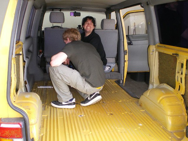 vw bus ausbau noch ganz nackig innen maika g flickr. Black Bedroom Furniture Sets. Home Design Ideas