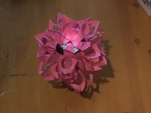 How to make paper flower lamp video metacafewatch flickr papierhut how to make paper flower lamp video by paper hat papierhut mightylinksfo