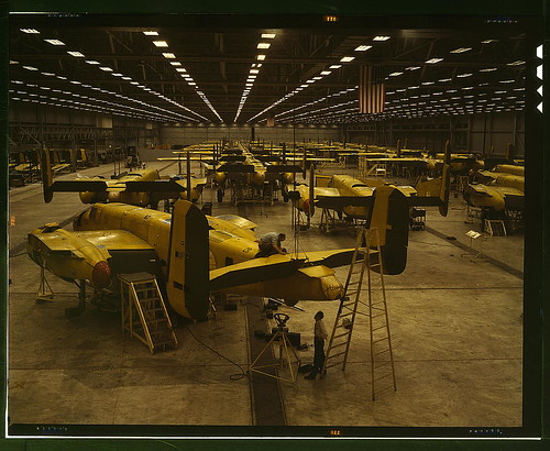 Assembling B-25 bombers at North American Aviation, Kansas City, Kan[sas]  (LOC) | by The Library of Congress