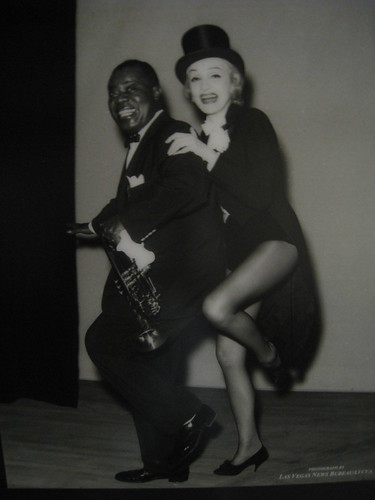 louis armstrong and marlene dietrich  riviera  1962
