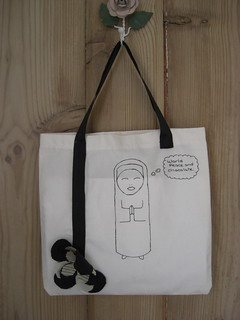 Original Chocolate Nun Mini Tote | by Stitcher Scribbler