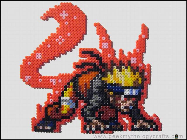 Kyuubi Naruto Bead Sprite Geek Mythology Crafts Flickr