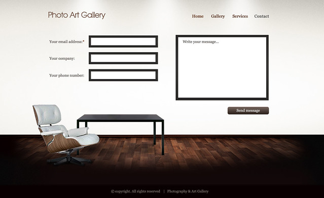 art gallery html wp template contact html template creat flickr