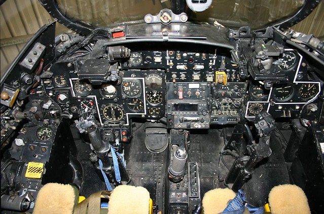 Hawker Hunter Cockpit Cockpit View Of Hunter One Vh Rho