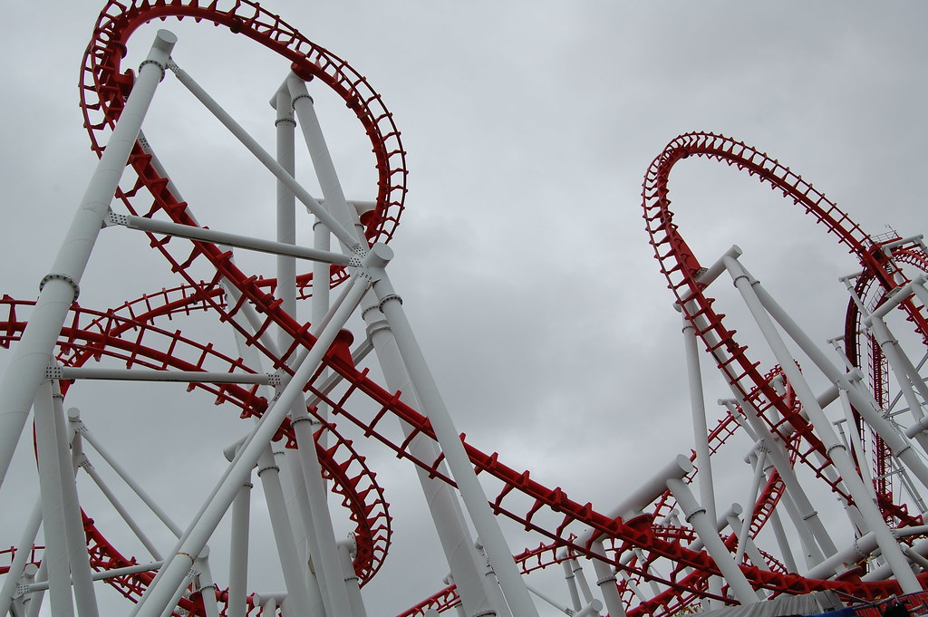 Empty Rollercoaster | A closed roller coaster ride in ...