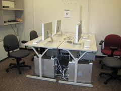 Student multimedia editing room in Writers House