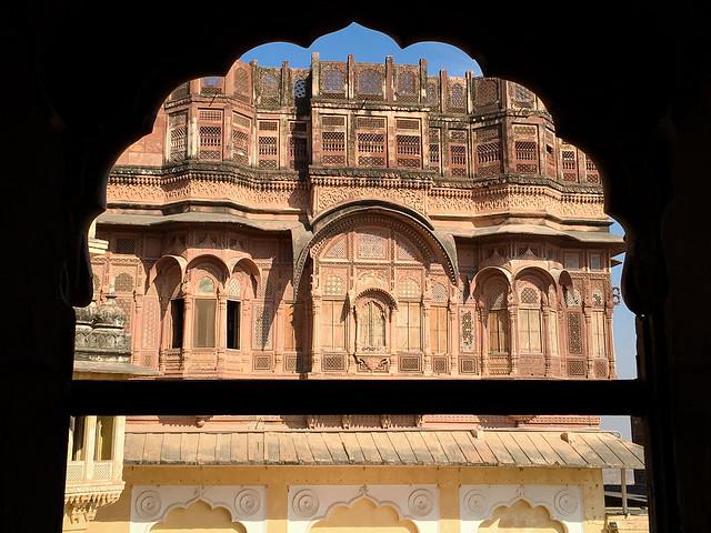 Palace in Mehrangarh Fort, Jodhpur, India ジョードプル メヘラーンガル・フォート内の宮殿外観