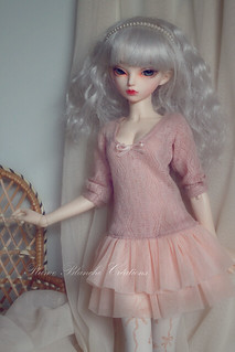 Pink dress for minifee and unoa size | by Plume Blanche Créations