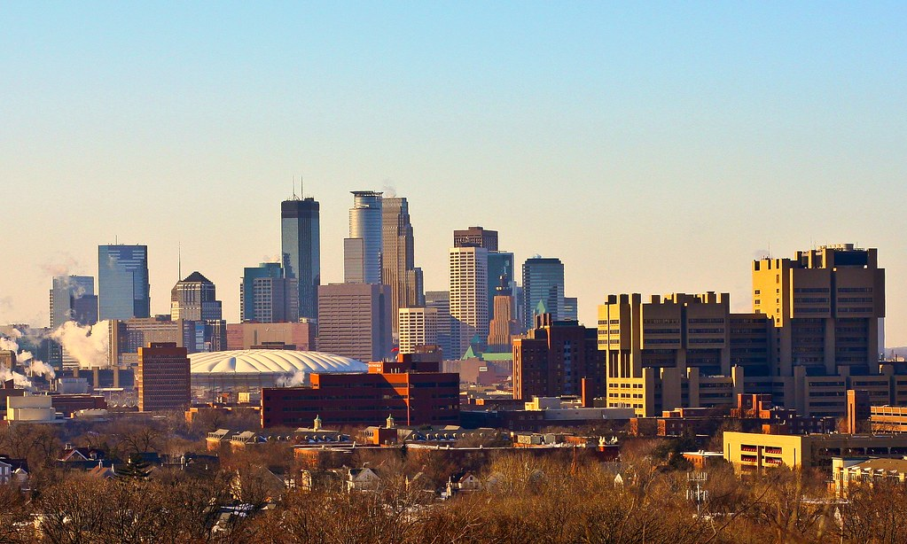 Minneapolis Skyline From Tower Hill Park Taken From