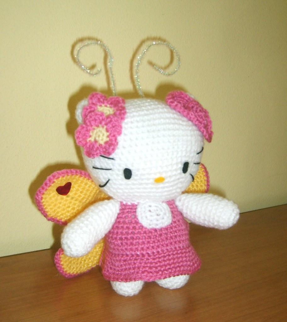 Hello Kitty Kimono Amigurumi Patron : Amigurumi Crochet Hello Kitty Butterfly Sabina Flickr
