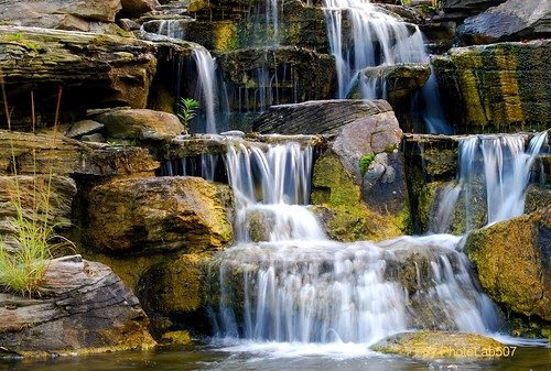 Meijer Garden Waterfall-Grand Rapids | by PhotoLab507