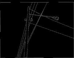 My light pole line drawing for stitching | by Spin Spin