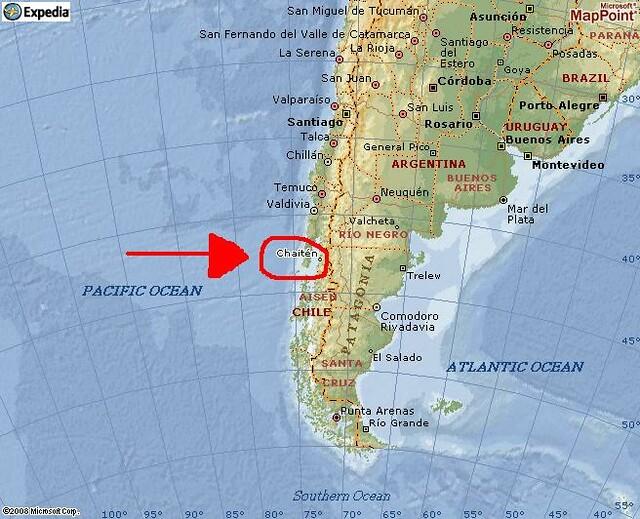 mapa lagos Mapa de Chaitén, X Región (Los Lagos), Chile. | Douglas Fernandes  mapa lagos