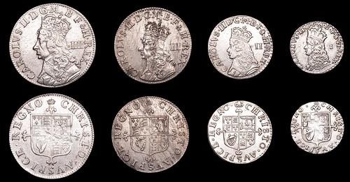 Charles II (1660-1685) Undated Maundy Set